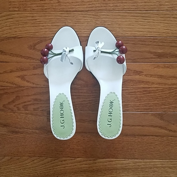 b3d9e9055 Chadwicks Shoes - Chadwicks J. G. Hook cherry sandals in white